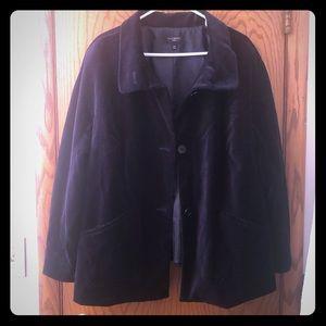 Talbots Navy Velvet Jacket
